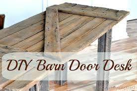 Door Desk Diy Diy Barn Door Desk Guest Post From Cleverly Inspired How To