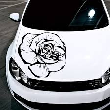 mitsubishi ralliart stickers amazon com car decals hood decal vinyl sticker rose flower