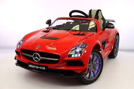 car mercedes red mercedes sls amg battery powered ride on car with mp3 mp4 and