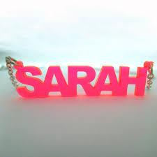 Acrylic Name Necklace Stylish Colour Name Plated Necklace Mynamenecklace Au