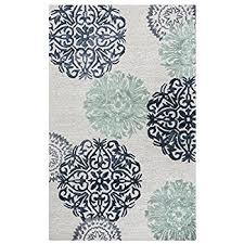 amazon com rizzy home leone collection hand tufted area rug gray