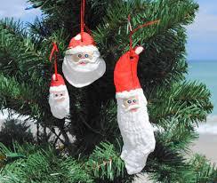 oyster shell santa ornaments oceanstyles