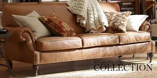 Pottery Barn Brooklyn Pottery Barn Leather Sofa Home Design Ideas