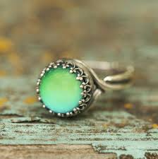 green mood rings images Vintage silver mood ring horsefeathers jewelry gifts jpg