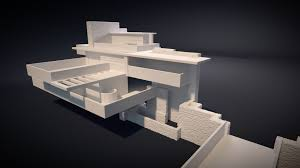 fallingwater fallingwater house 3d printable cgtrader