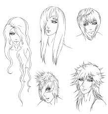 sketches of hair request rellik hair sketches by punkaspazer on deviantart