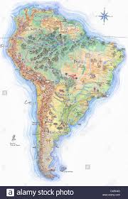 Map Of Sounth America by Hand Drawn Map Of South America Stock Photo Royalty Free Image