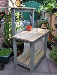 Garden Potting Bench Ideas Garden Pleasant Gardening By Fabulous Custom Potting