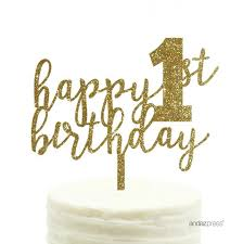 acrylic cake toppers gold glitter happy 1st birthday acrylic cake toppers