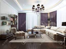 living room in art deco style 3d images stock photo picture and