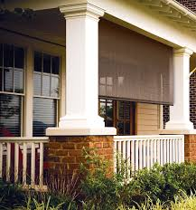 Roll Up Sun Shades For Patios Coolaroo Outdoor Roll Up Window Shades Silver Series