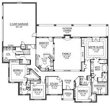 4 bedroom house plans one story ranch home plan with sunken family room