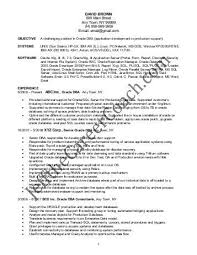 oracle dba resume sample resume samples and resume help