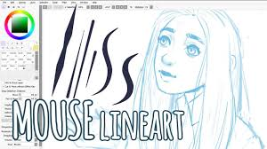 lineart with a mouse u2022 paint tool sai tutorial youtube