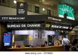 bureau de change a ttt moneycorp bureau de change near the passenger luggage stock
