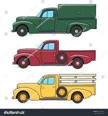Vintage Ford Truck Colors - set color retro pickup truck vector stock vector 514077574