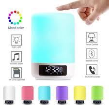keynice led bluetooth speaker bedside lamp touch sensor table