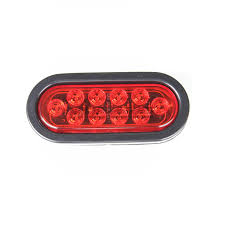 flush mount trailer lights red 6 oval truck trailer flush led stop turn signal light hid