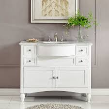 45 inch single sink contemporary white bathroom vanity carrara