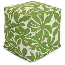 Plantation Patterns Seat Cushions by Patio D Cor Bean Bag Poufs Ottomans Majestic Home Goods