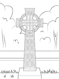 cross celtic coloring pages coloringstar