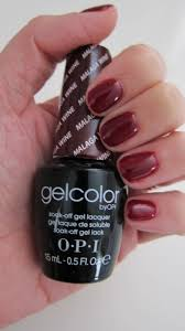 nails of the week opi gelcolor in malaga wine mrs jones london