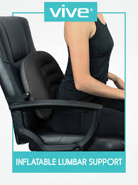 amazon com inflatable lumbar support cushion by vive posture