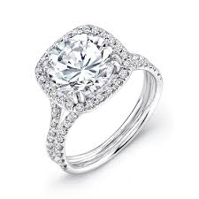 square engagement rings with halo rounded square halo ring uneek jewelry collections