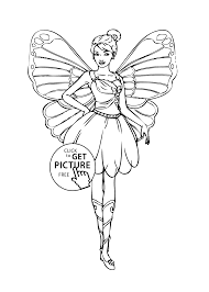 barbie fairy coloring girls printable free coloing
