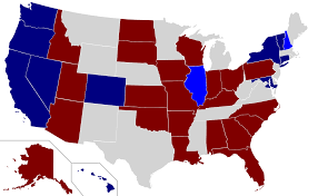 United States Snow Map by United States Senate Elections 2016 Wikipedia