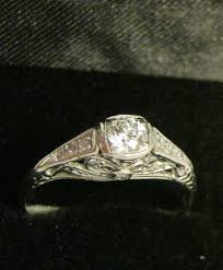 art deco diamond u0026 platinum ladies ring hobart town antique