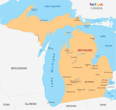 Blank Political Map by Michigan Map Blank Political Michigan Map With Cities