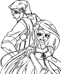 rapunzel flynn crazy manga coloring wecoloringpage