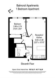 Balmoral Floor Plan 1 Bed Flat To Rent In Balmoral Apartments 2 Praed Street London