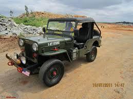 offroad jeep cj 1988 mahindra cj 500d 4wd diesel jeep team bhp