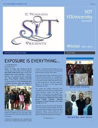 sot youniversity newsletter winter 2016