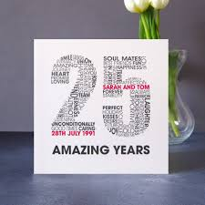 anniversary card personalised silver wedding anniversary card by mrs l cards