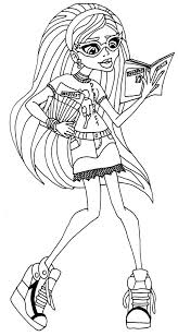 incredible monster high coloring pages to print out cool