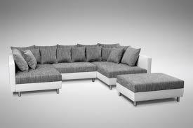sofa grau weiãÿ sofa ecksofa eckcouch in weiss hellgrau eckcouch mit