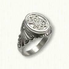 Custom Monogram Rings 46 Best Custom Signet Rings Images On Pinterest Signet Ring