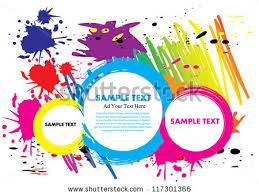 Paint Colorful - super macro shot colored paint splashes stock illustration