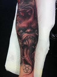 Half Forearm Sleeve - evil forearm half sleeve by wendtner tattoonow