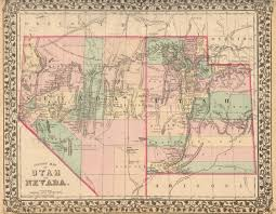 Utah Counties Map Antique Maps Of Nevada