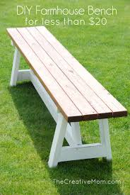 Build Cheap Outdoor Table by Diy Project Farmhouse Bench The Home Depot Farmhouse Bench