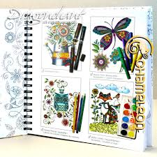chameleon colouring book lori u0027s art garden poster ebay
