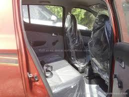family car interior 2016 maruti alto 800 facelift red test drive car interior rear