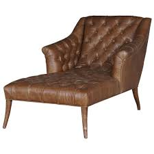 Leather Tufted Chairs Roald Rustic Lodge Brown Leather Tufted Armchair Chaise Lounge