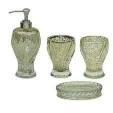glass bathroom accessories for less overstock com