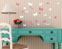 Butterfly Wall Decals For Nursery by Flowers Butterflies Vinyl Wall Art Decals