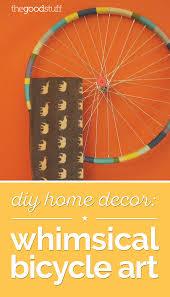 diy home decor whimsical bicycle art thegoodstuff